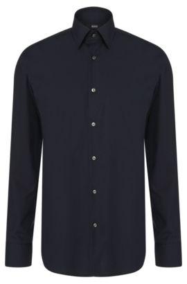 Regular-Fit Hemd aus Baumwolle: 'Enzo', Dunkelblau