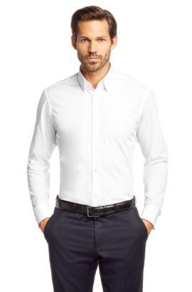 Chemise à poignets mousquetaires «Lawrence», facile à repasser, Blanc