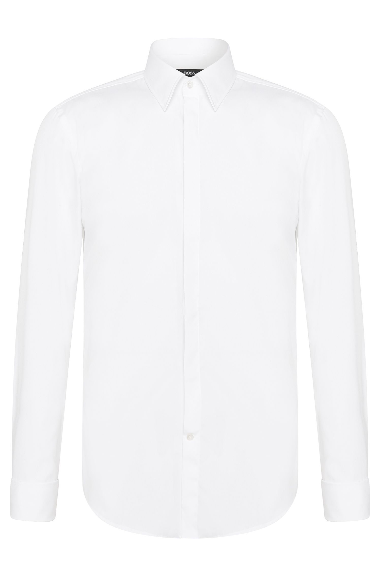 Camicia da smoking slim fit in cotone: 'Ilias'