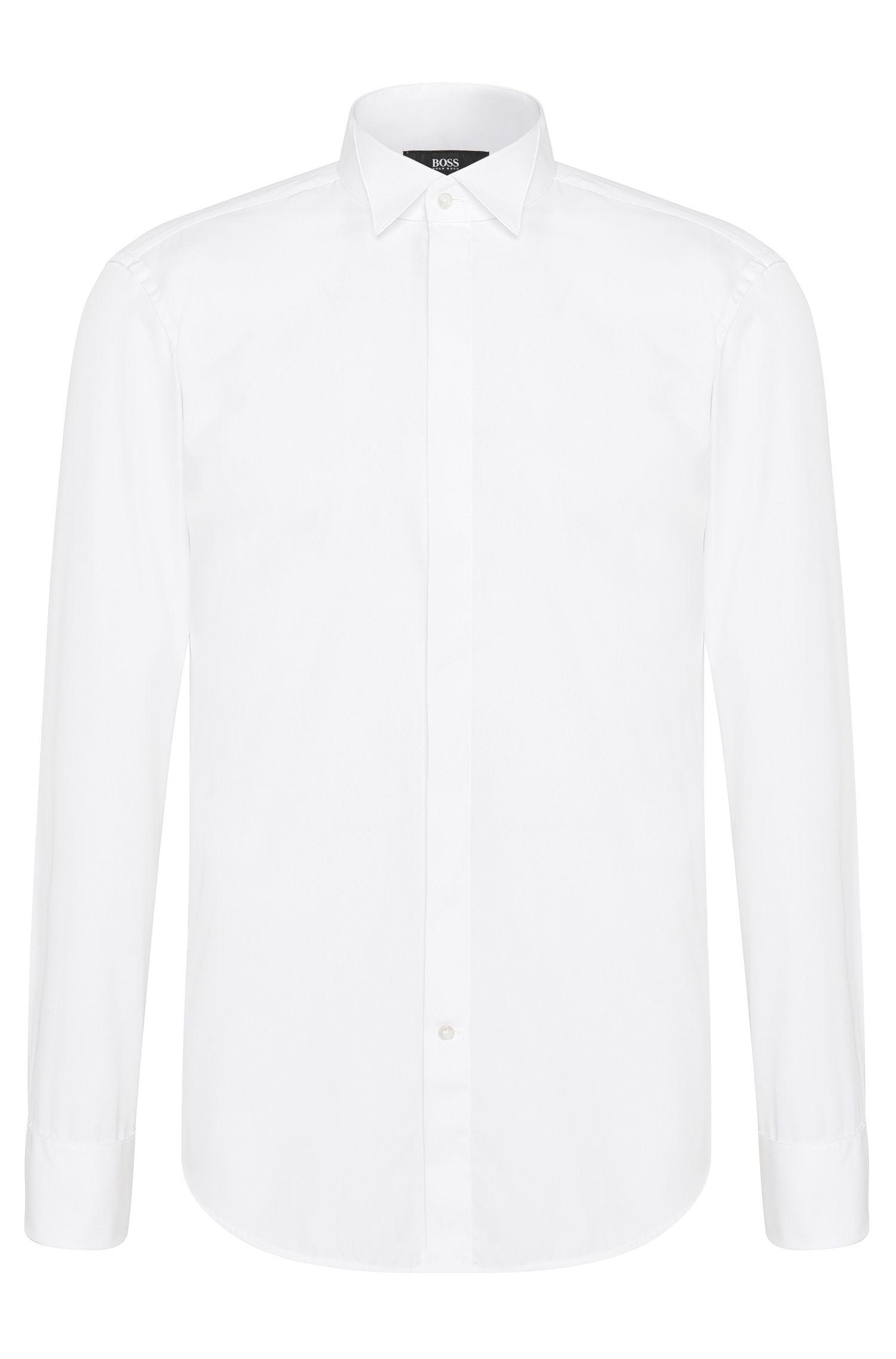 Camicia da smoking regular fit in cotone con polsini con risvolto: 'Ewen'