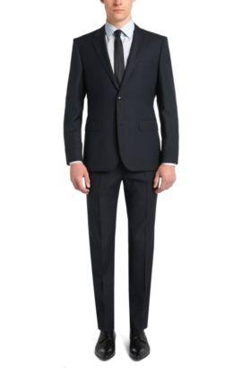 Slim-Fit Hemd aus bügelleichter Baumwolle: 'Emil', Hellblau