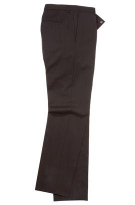 Slim-fit zakelijke broek 'Heise' van een scheerwolmix, Donkerbruin