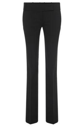 Slim-Fit Hose ´Taru5` aus einer Schurwollkomposition, Schwarz