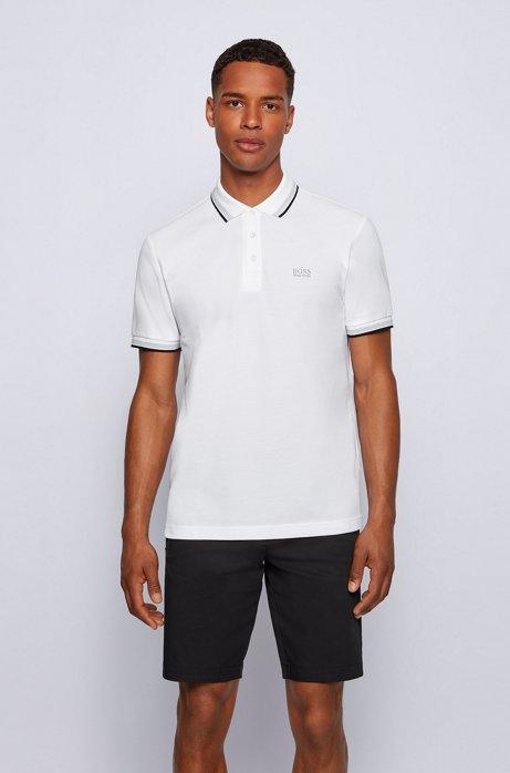 Regular-Fit Polo mit Drei-Knopf-Leiste, Weiß