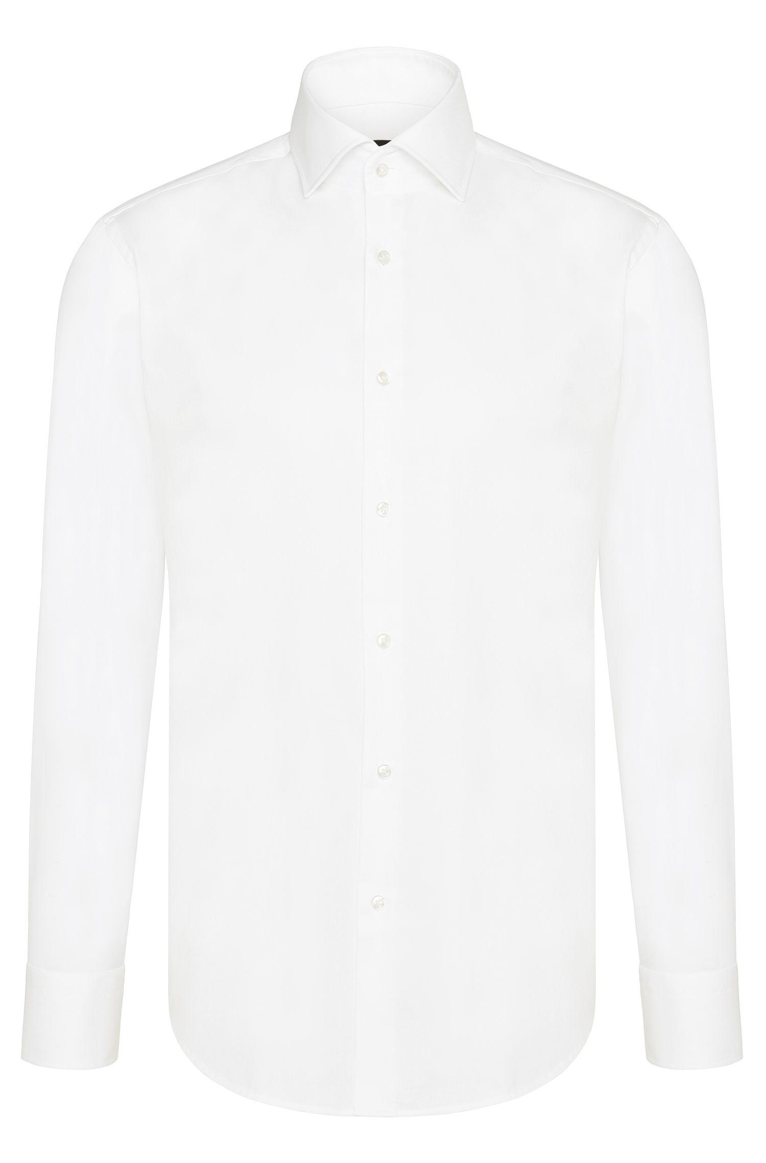Regular-fit business shirt in cotton