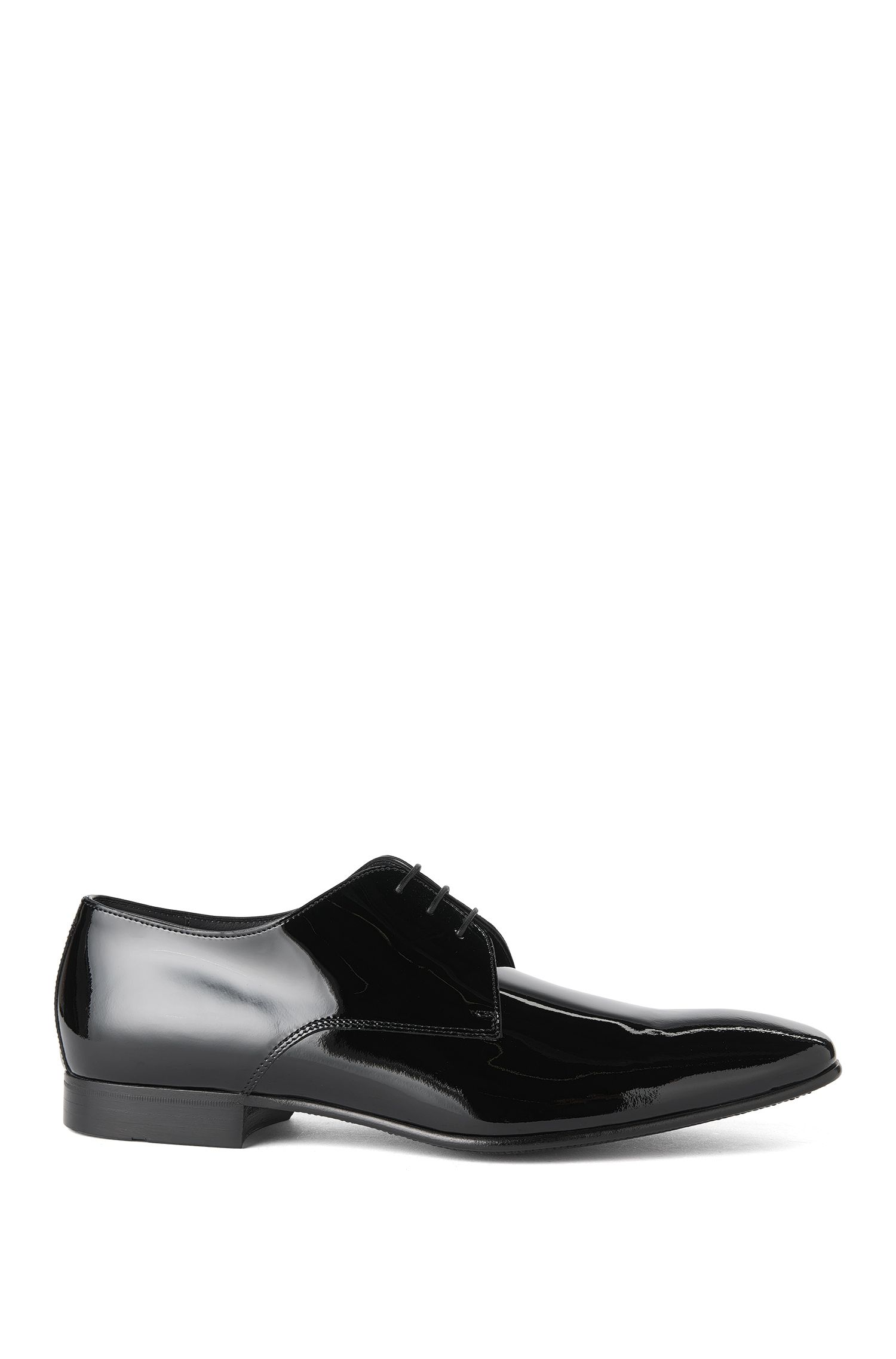 Italian-made lace-up shoe in patent leather