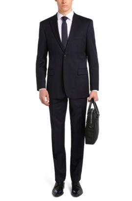 Comfort-Fit Anzug aus Schurwolle: 'Pasini2/Movie2', Dunkelblau