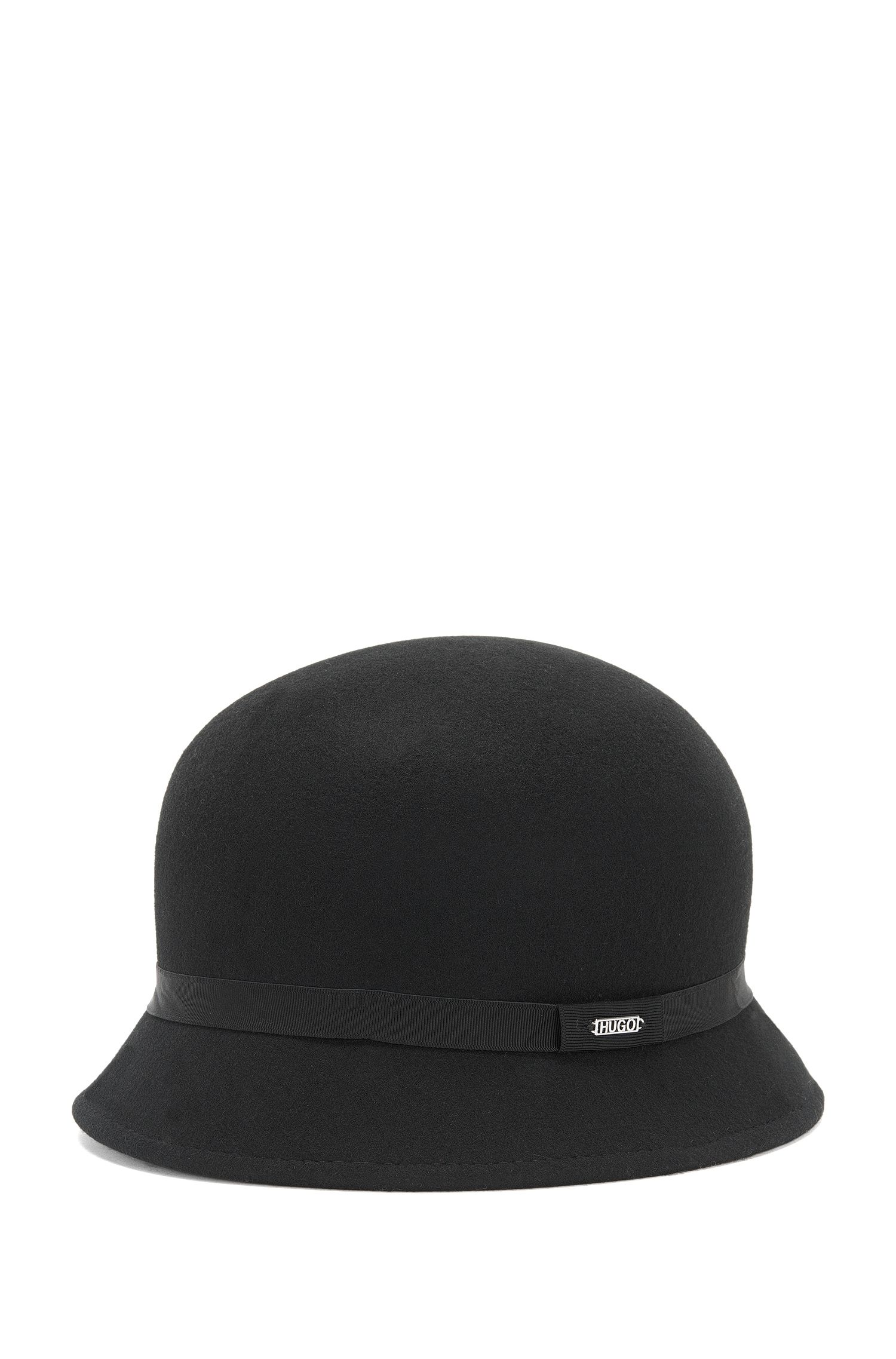 Hat in pure wool: 'Women-X 188', Black