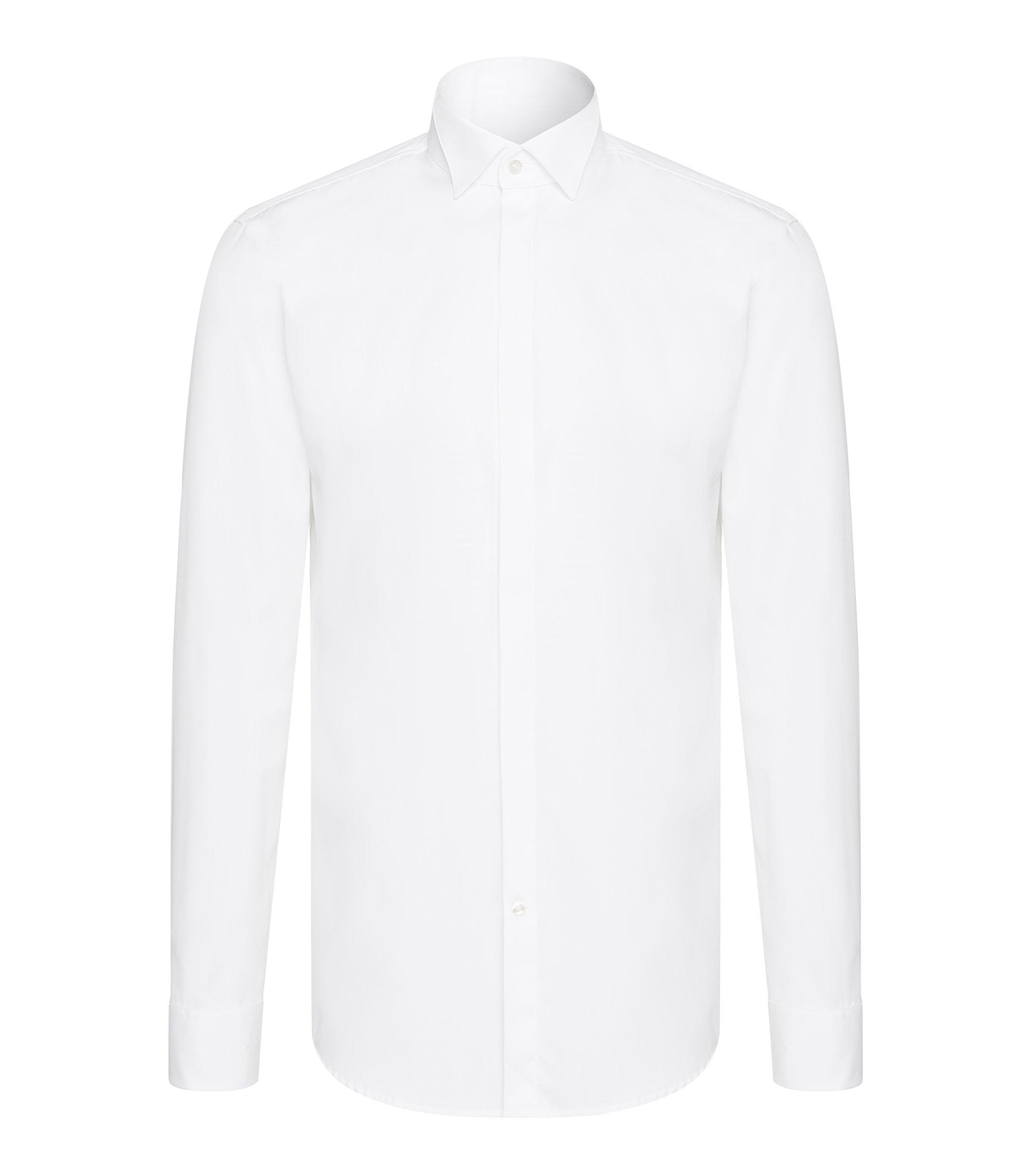 Slim-Fit Smokinghemd aus Baumwolle: 'Illik', Weiß