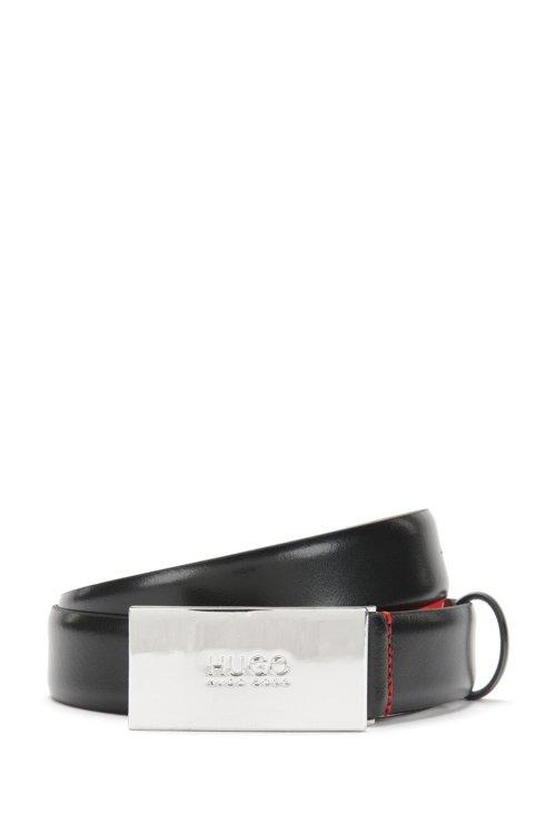 Hugo Boss - Ceinture en cuir à boucle plate ornée du logo - 1