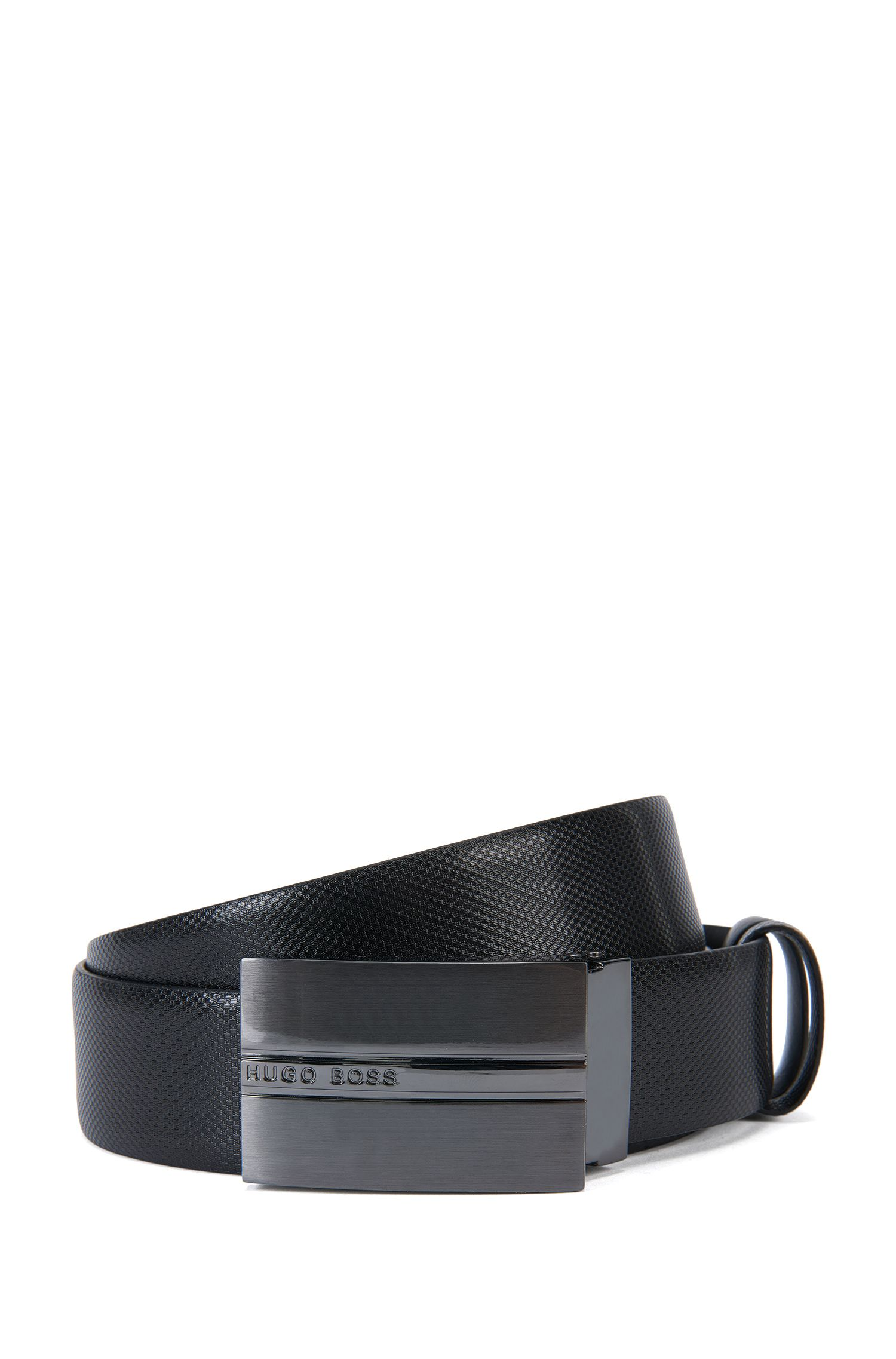 Reversible leather belt: 'OLIAS'