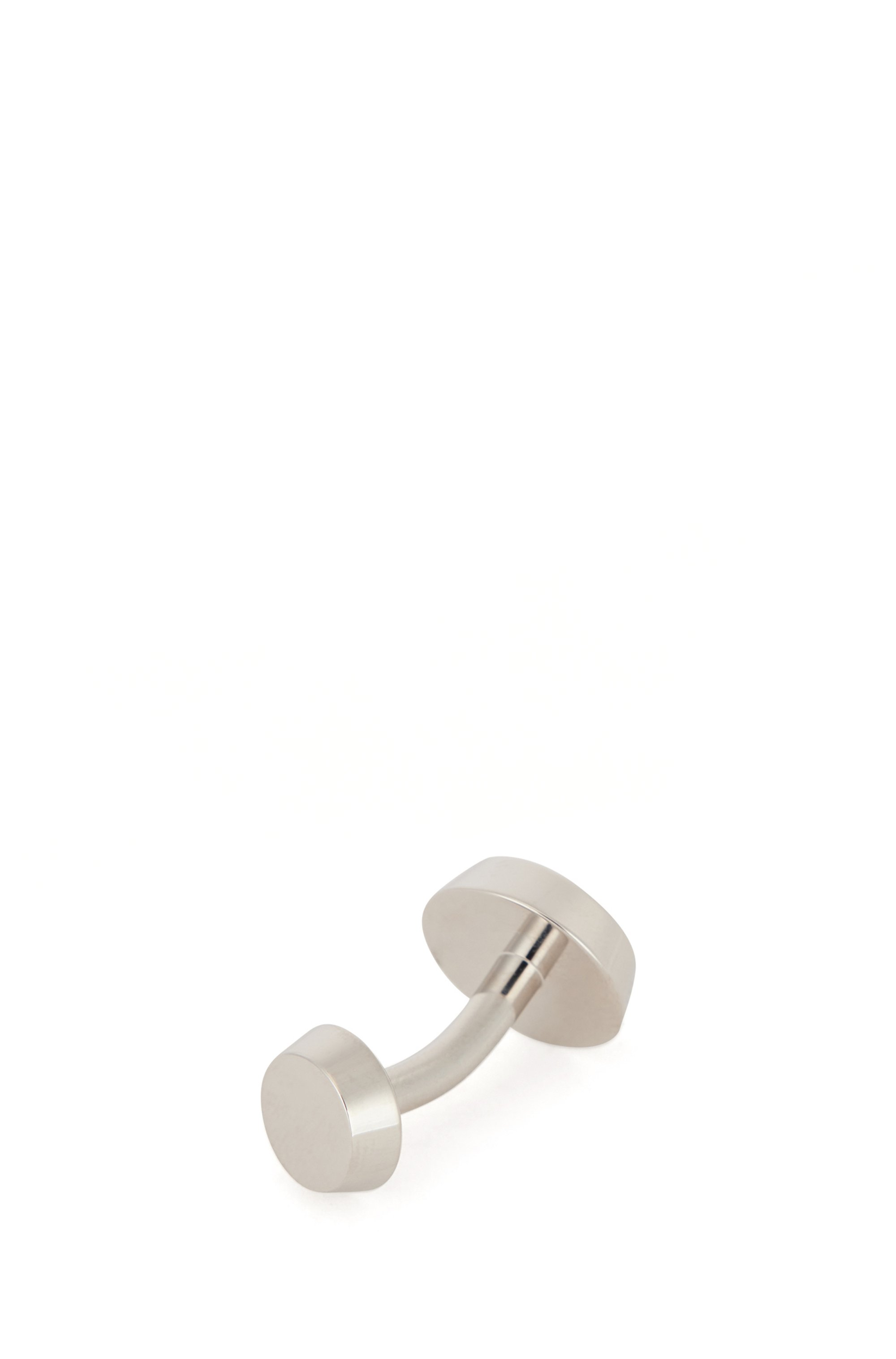 Round cufflinks with enamel insert and engraved logo