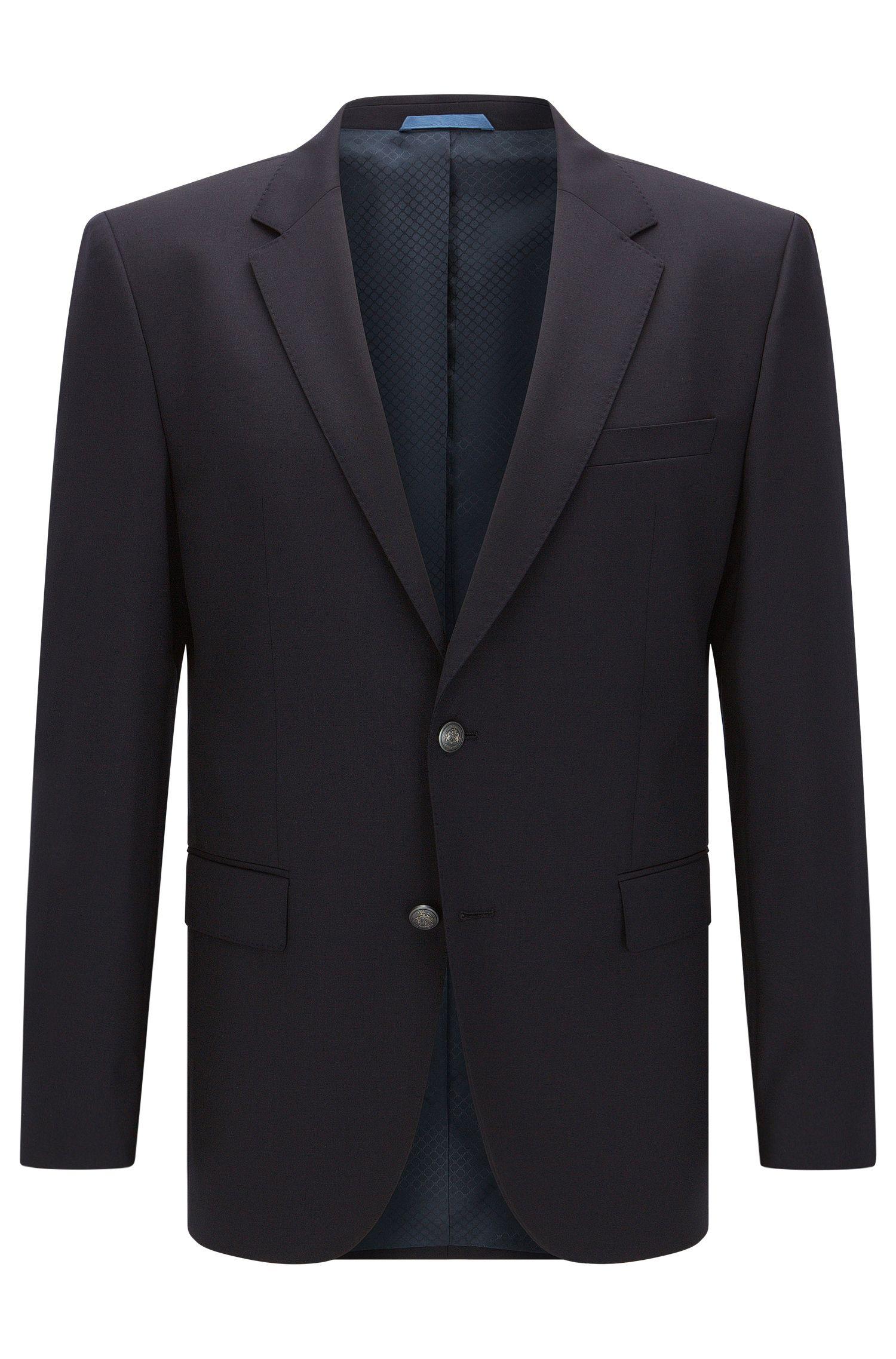 Veste de costume Regular Fit en laine vierge, ornée de surpiqûres AMF effet cousu main