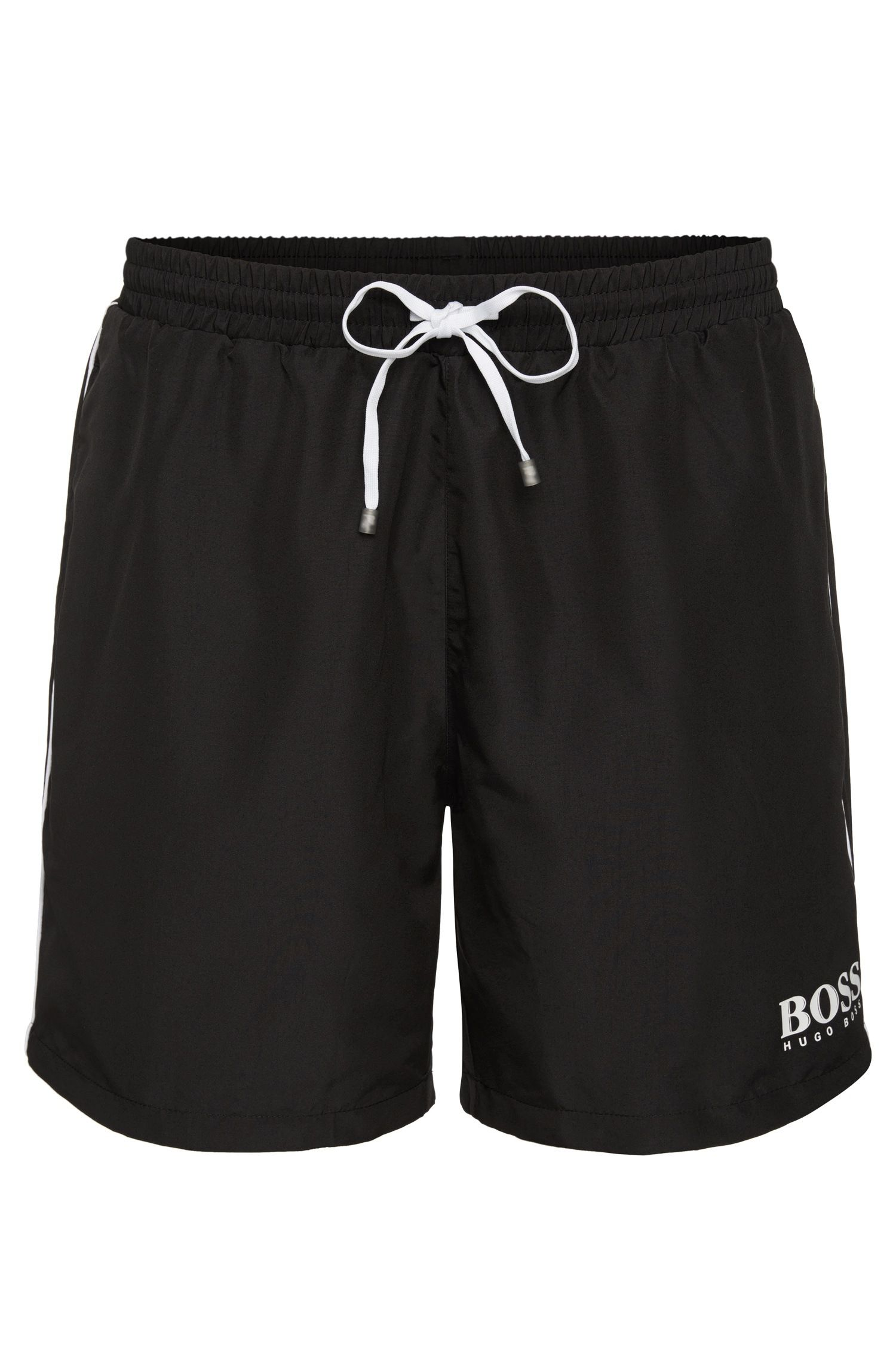 Drawstring swim shorts with logo detail