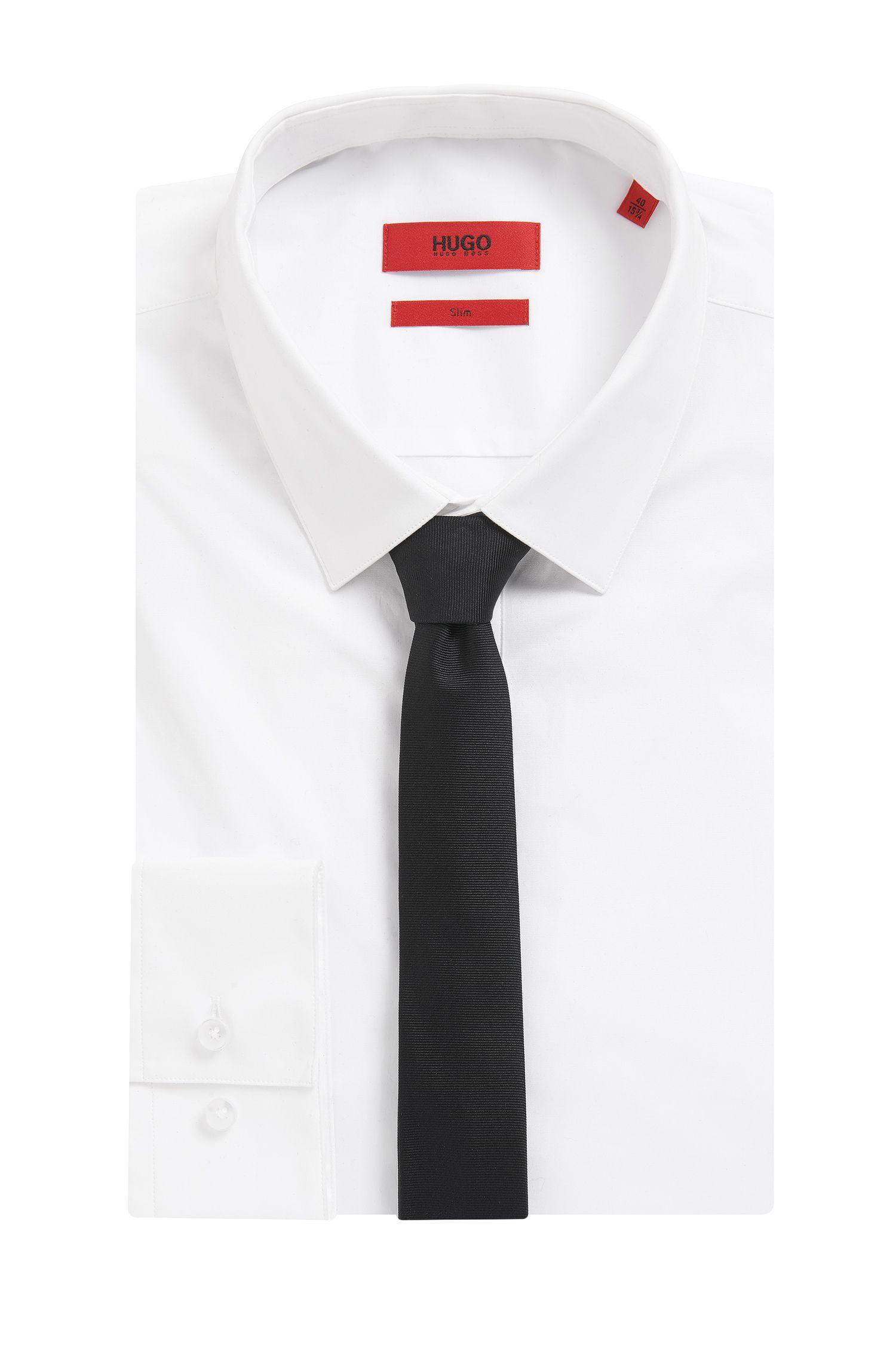 Krawatte aus Seide: 'TIE CM 4,5', Schwarz