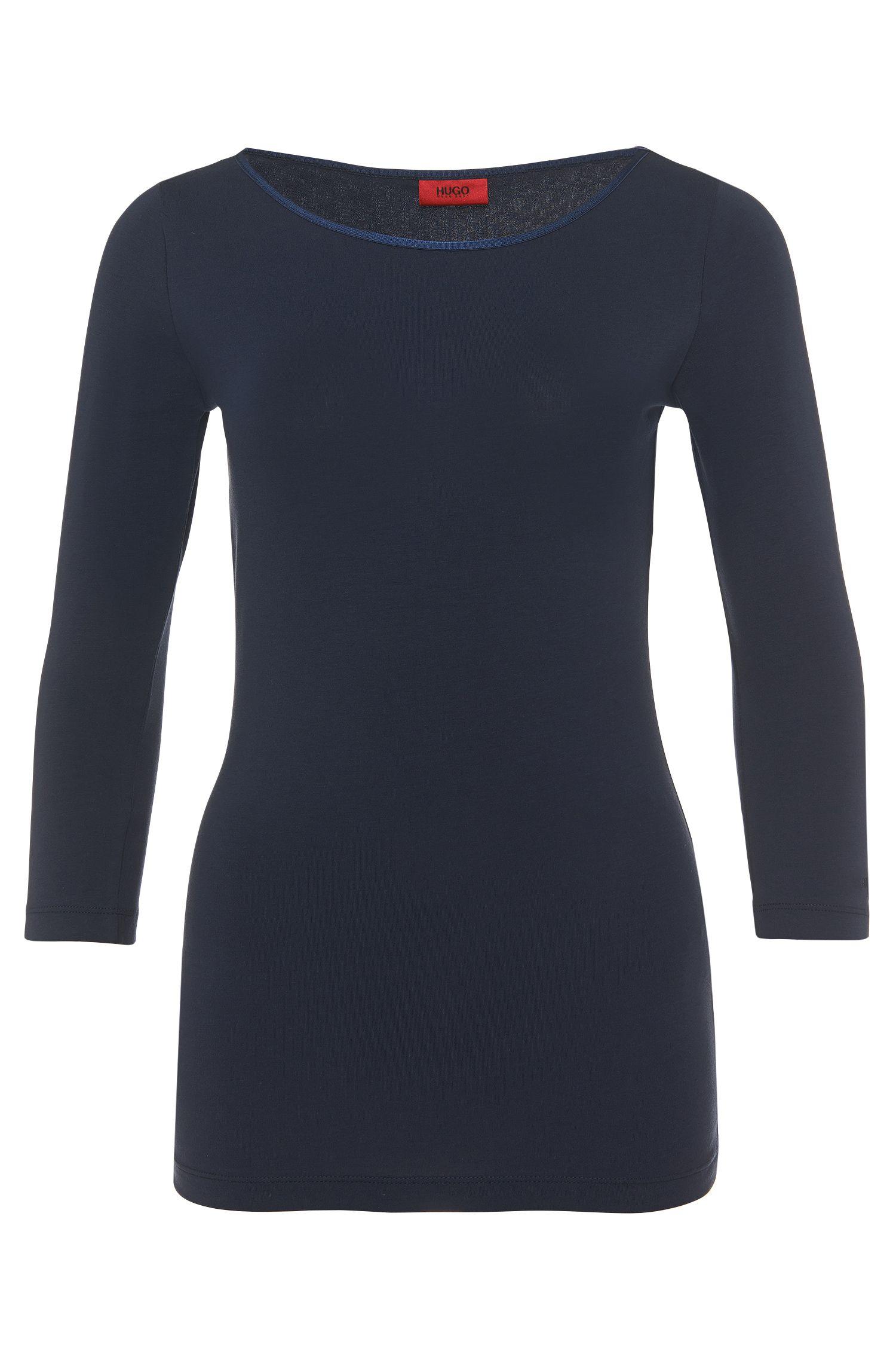 Unifarbenes Shirt aus Stretch-Baumwolle: 'Dannala'