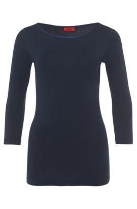 Unifarbenes Shirt aus Stretch-Baumwolle: 'Dannala', Hellblau