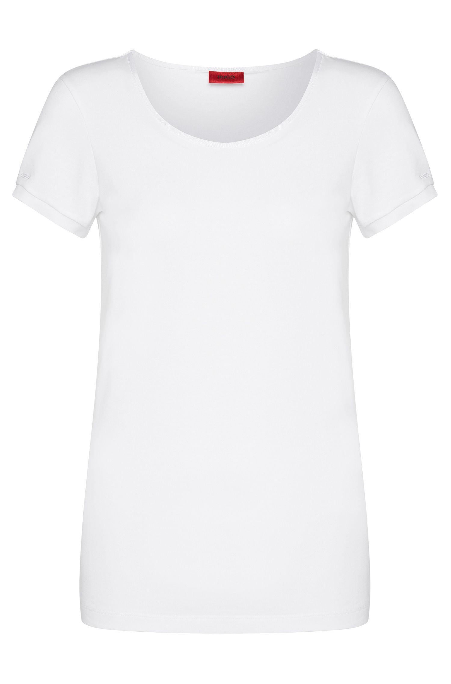 Unifarbenes T-Shirt aus Stretch-Baumwolle: 'Debana'