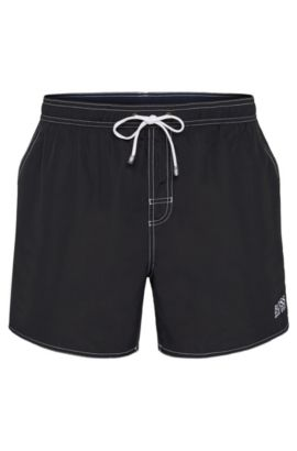 Swim shorts in a quick-drying material: 'Lobster BM', Black