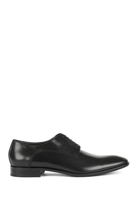 BOSS - Leather Derby shoes with antique finish 938607a1a68