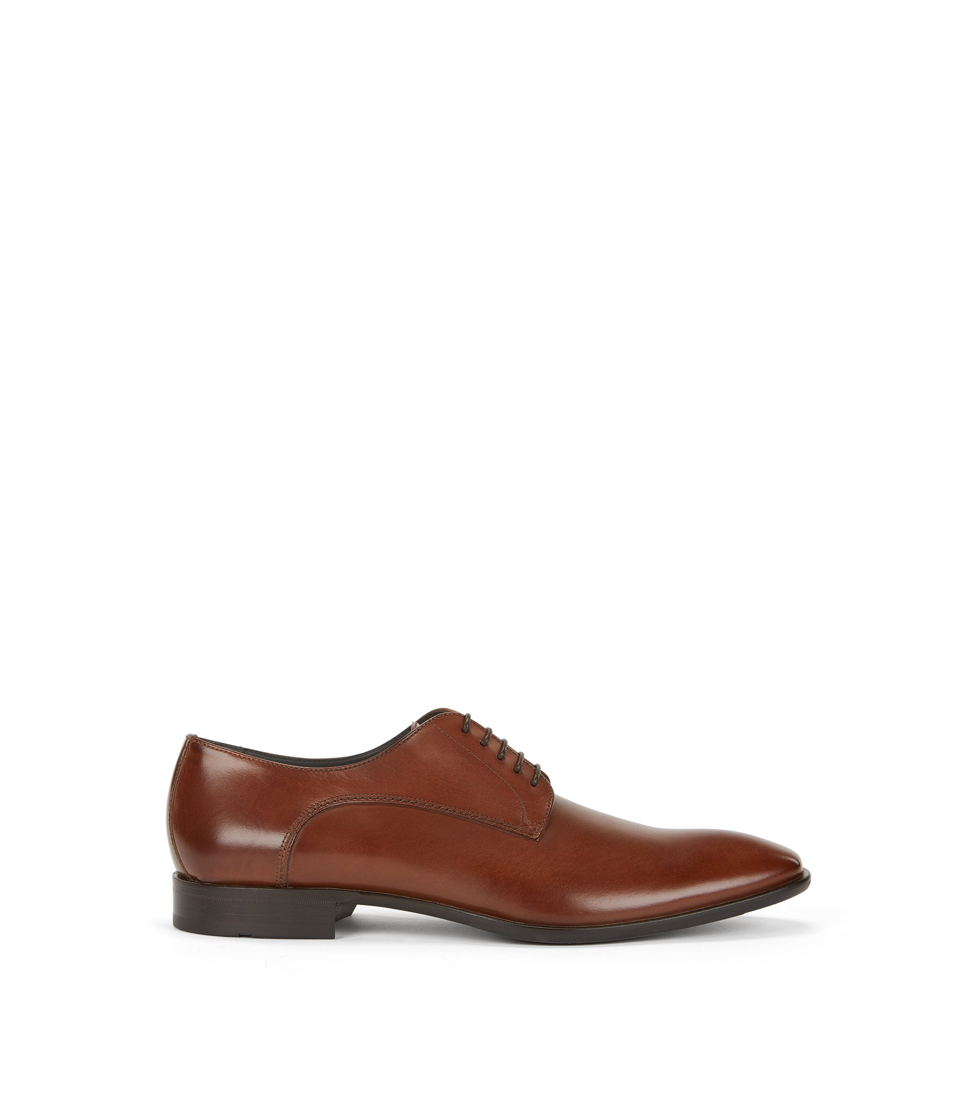 Chaussures Oxford en cuir finition vieillie, Marron