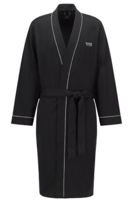 kid limited sale special section Cotton dressing gown with contrast piping