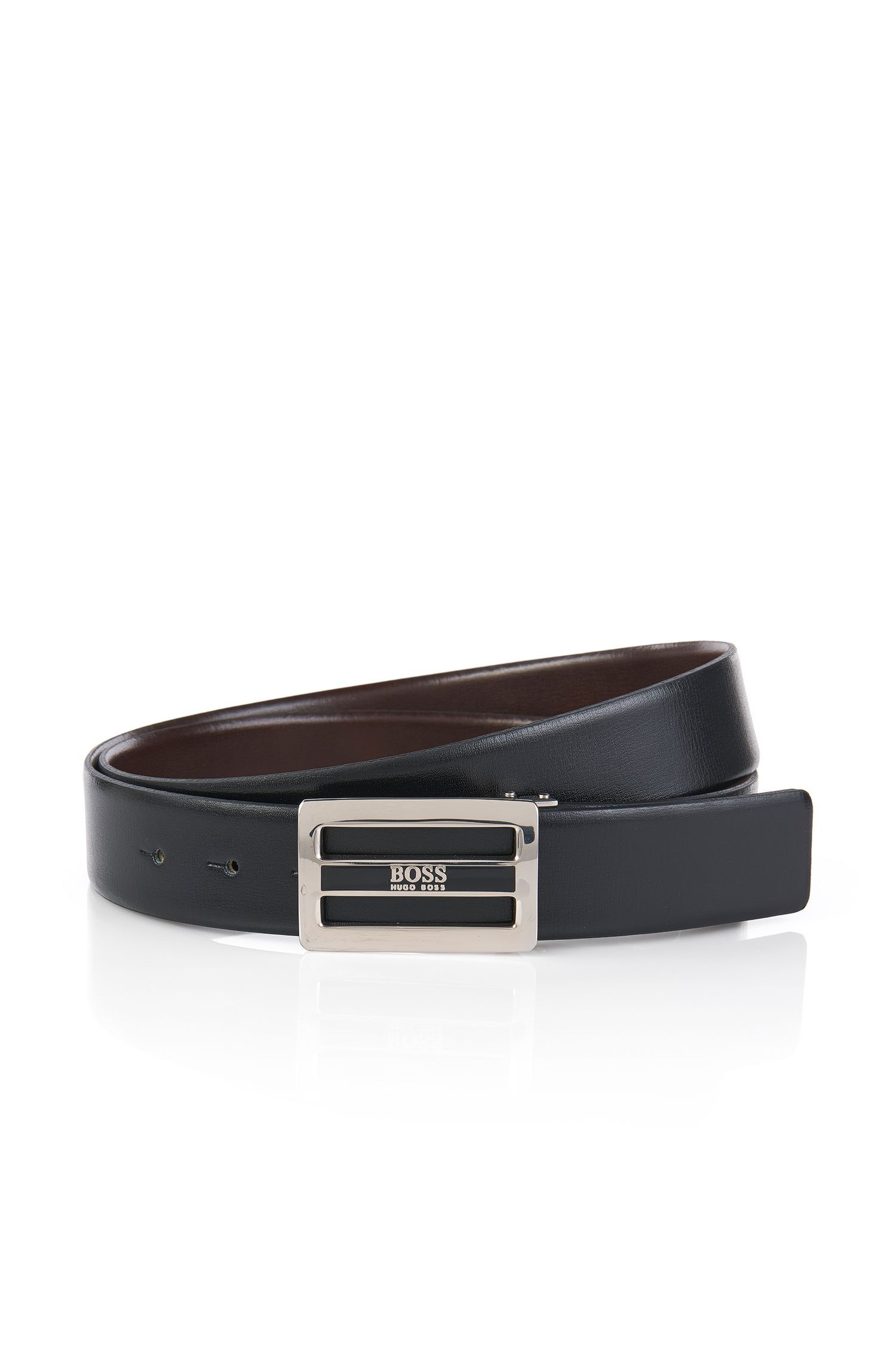 Reversible leather belt: 'Orfeo-CN'
