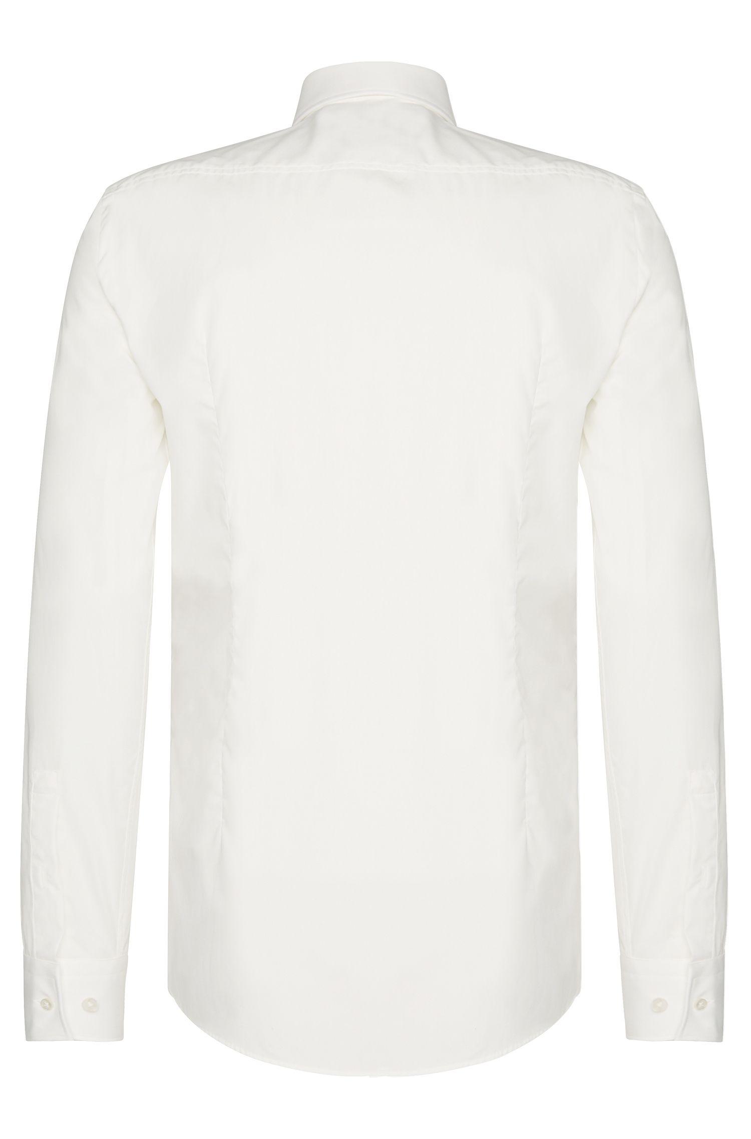 Unifarbenes Slim-Fit Hemd aus Baumwolle: 'Jenno', Natur