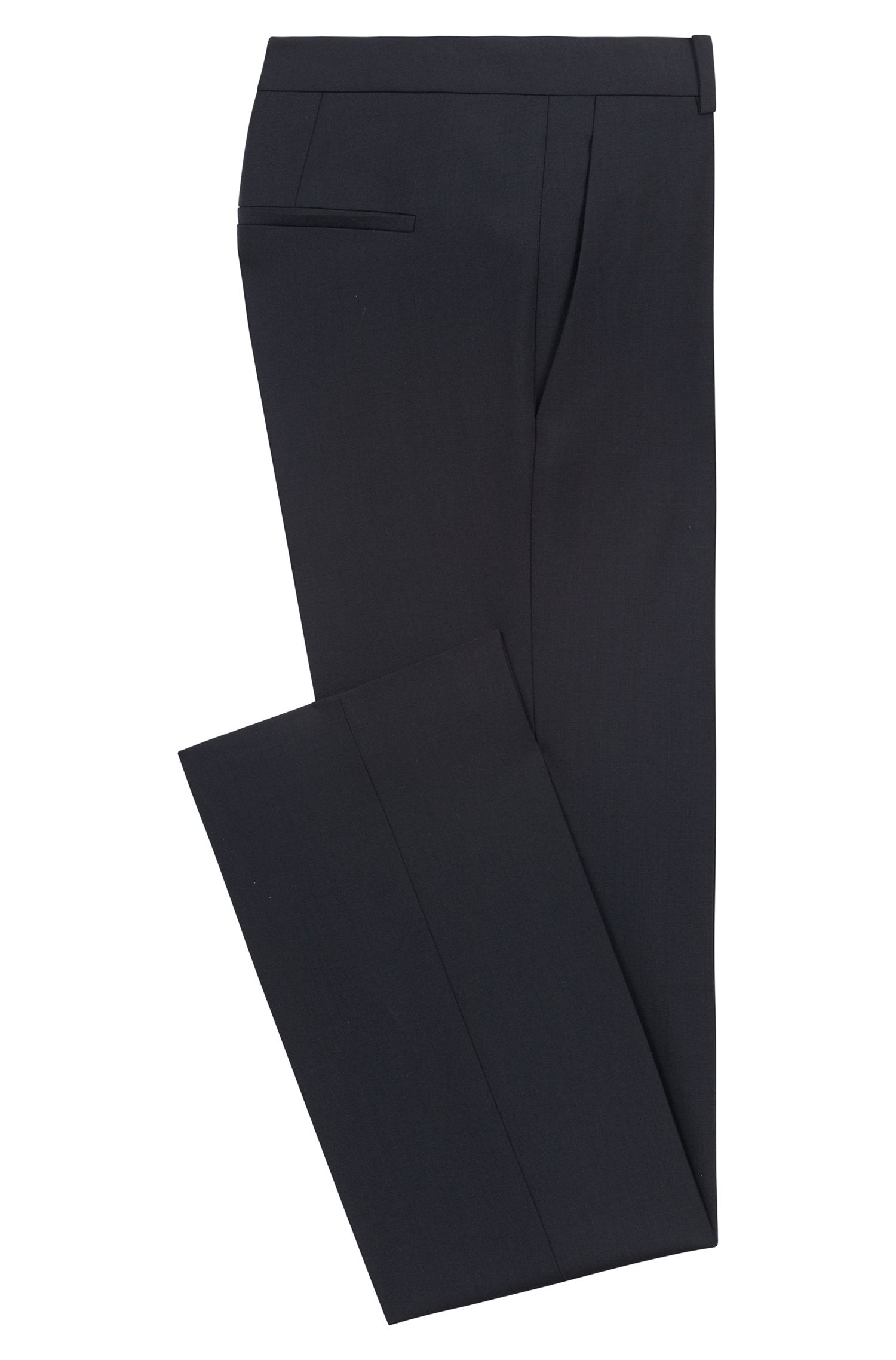 Regular-fit formal trousers in stretch virgin wool