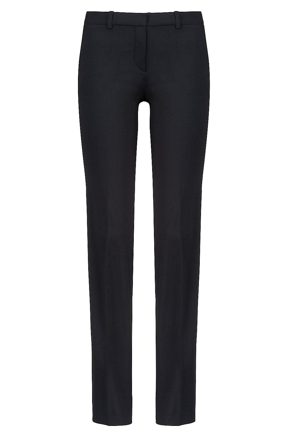 Regular-fit formal trousers in stretch virgin wool HUGO BOSS Jm9GZEBa1