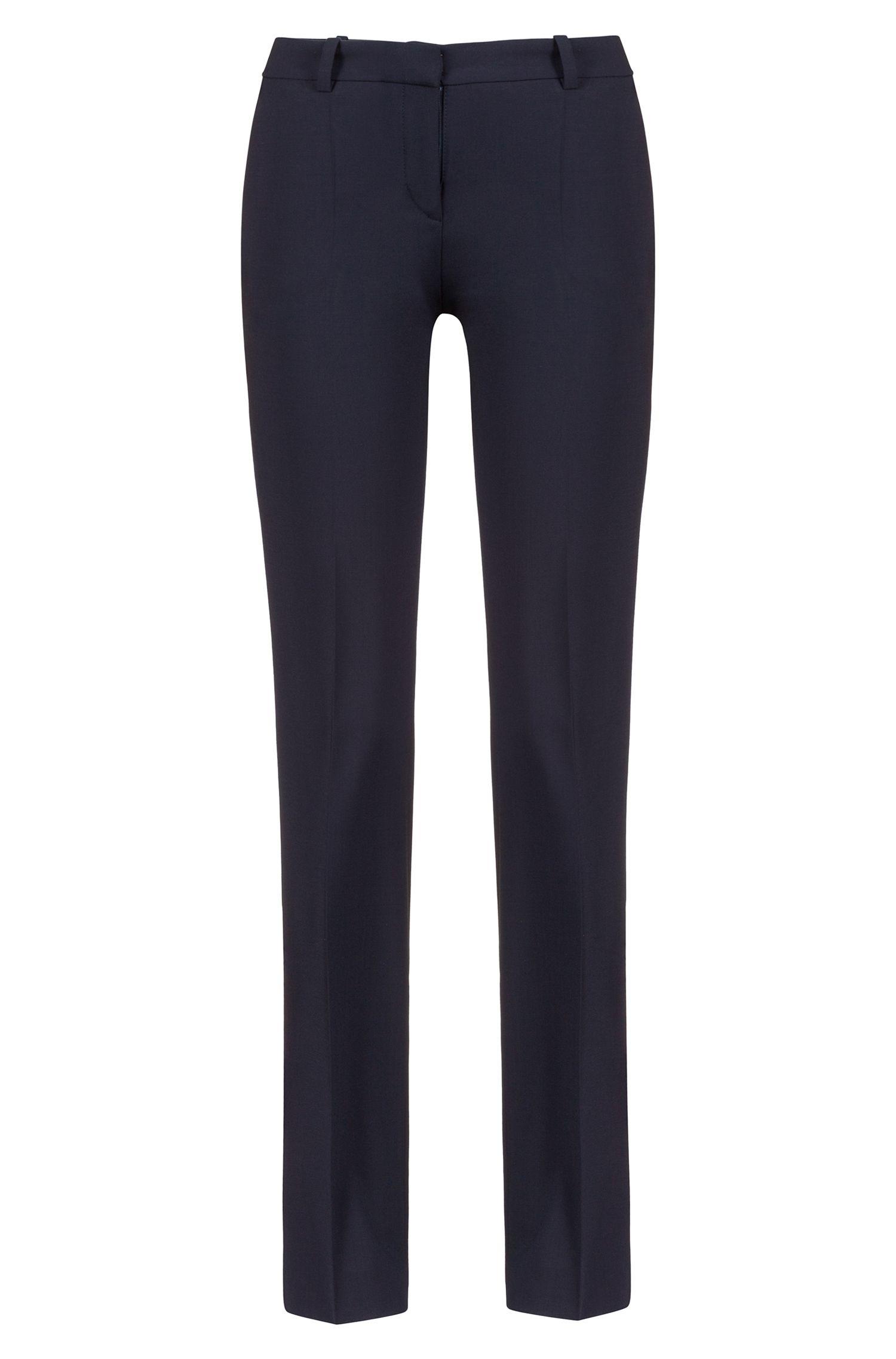 Regular-fit formal trousers in stretch virgin wool
