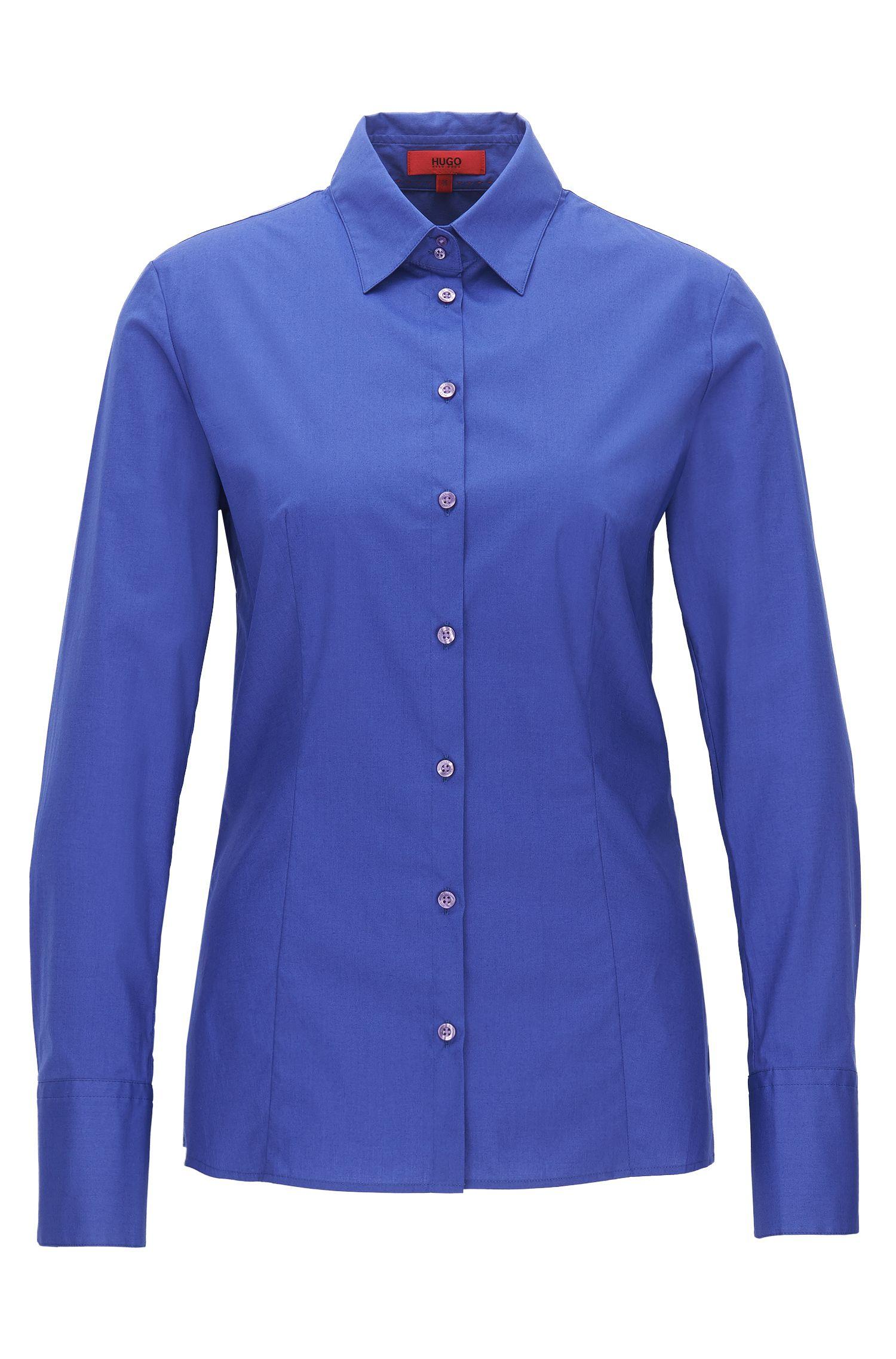 Camicia slim fit in cotone elasticizzato