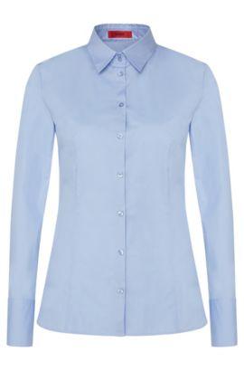 Chemise Slim Fit en coton stretch, Bleu vif