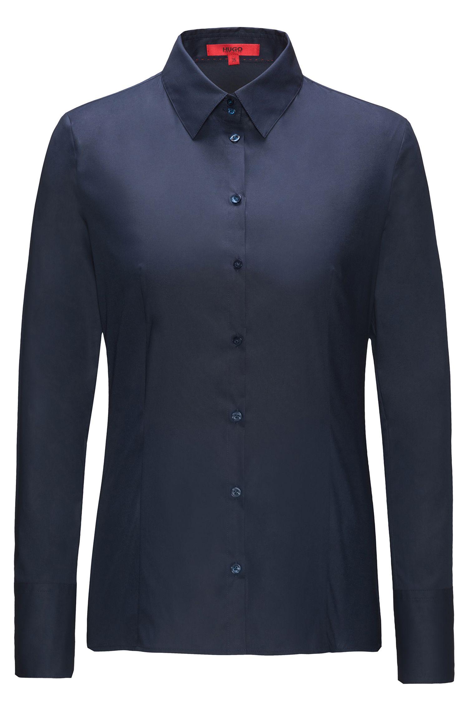 Camicia slim fit in cotone elasticizzato HUGO Donna