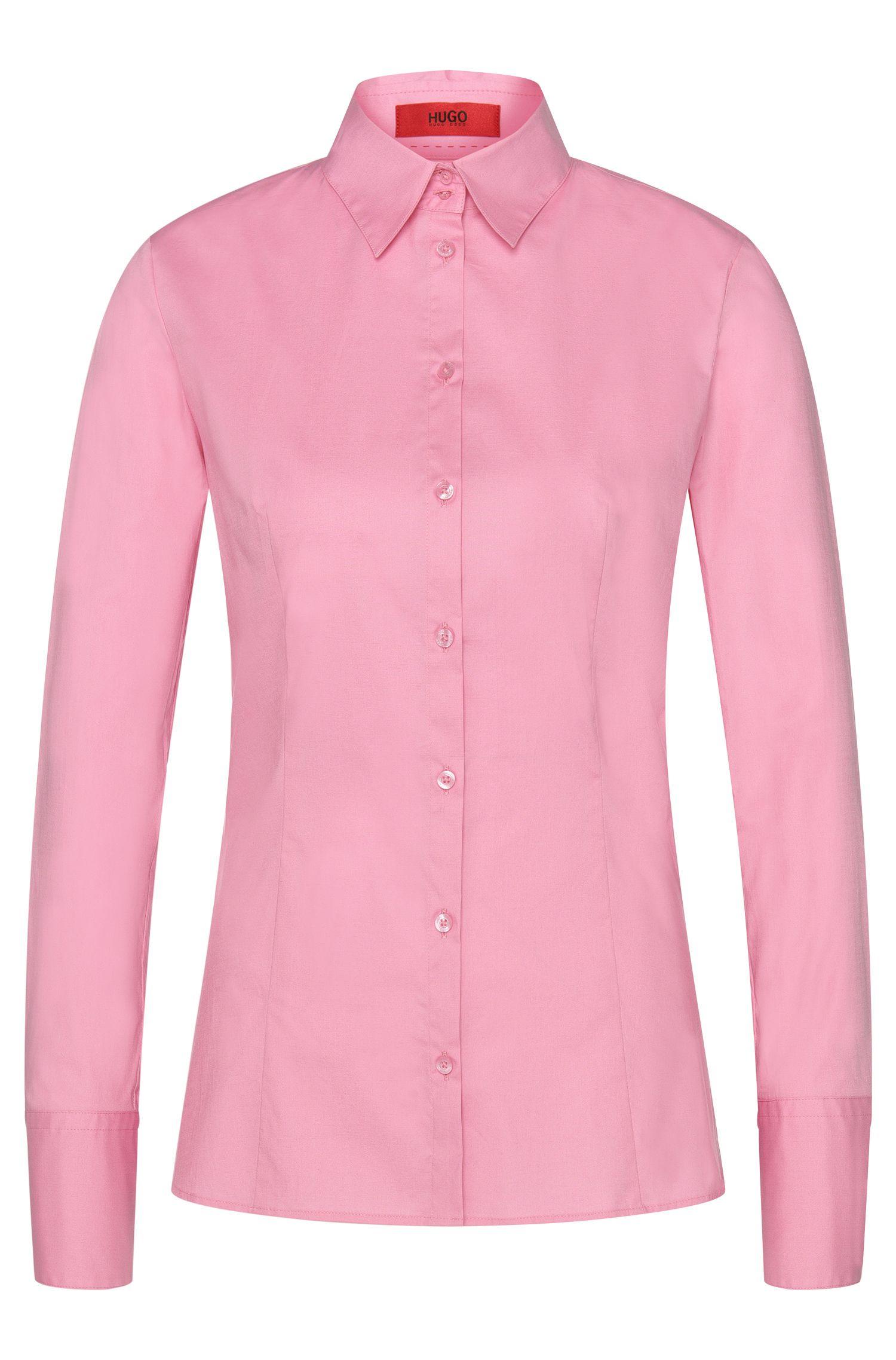 Camisa slim fit en algodón elástico de HUGO Mujer
