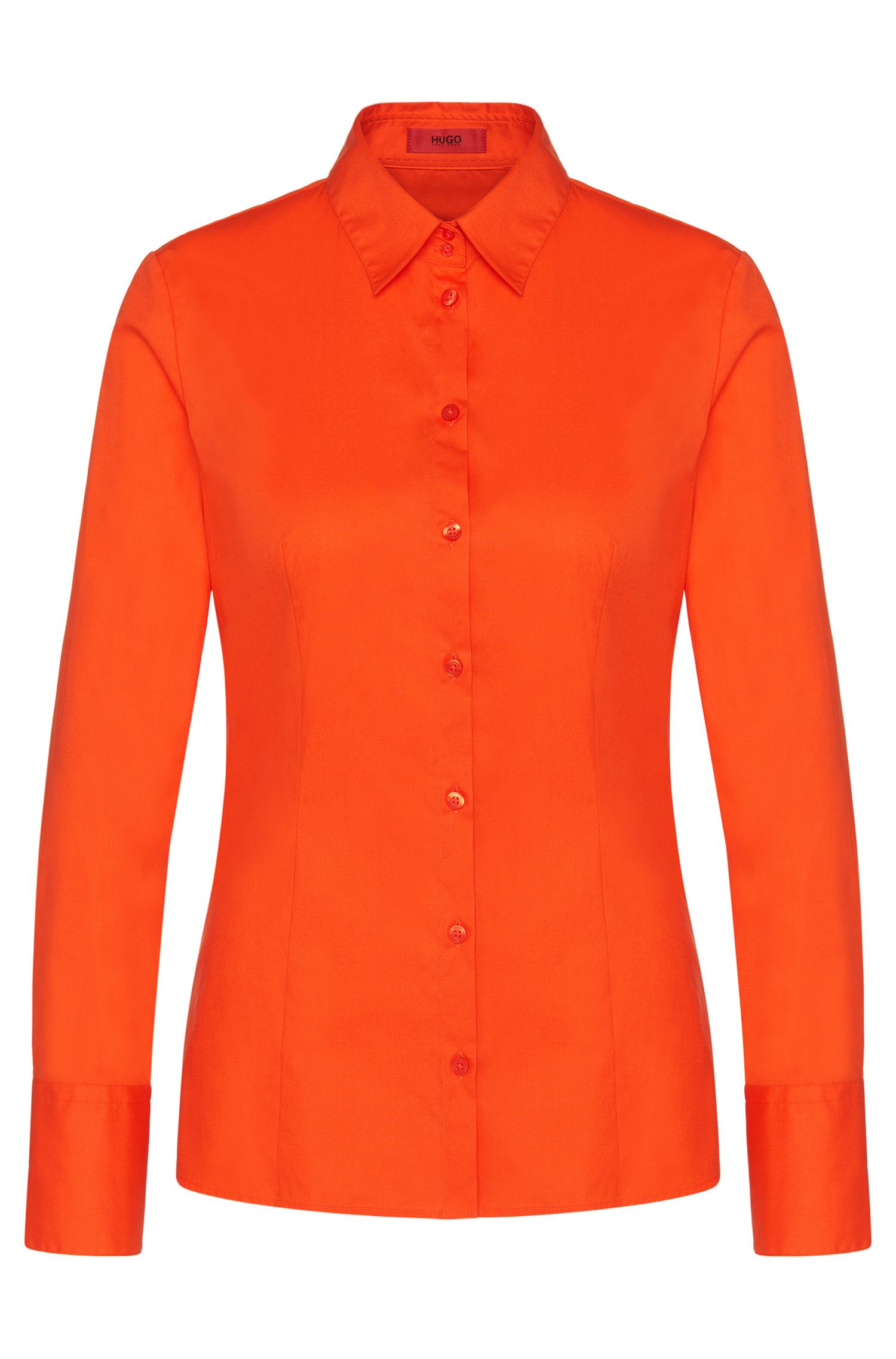 Slim-Fit Bluse aus Stretch-Baumwolle