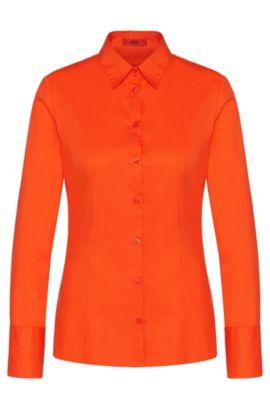 Chemise Slim Fit en coton stretch, Orange
