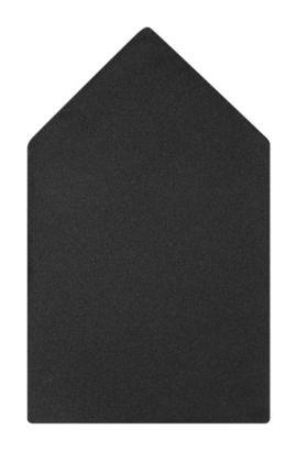 Pochet van zijde: 'Pocket square 33x33', Zwart