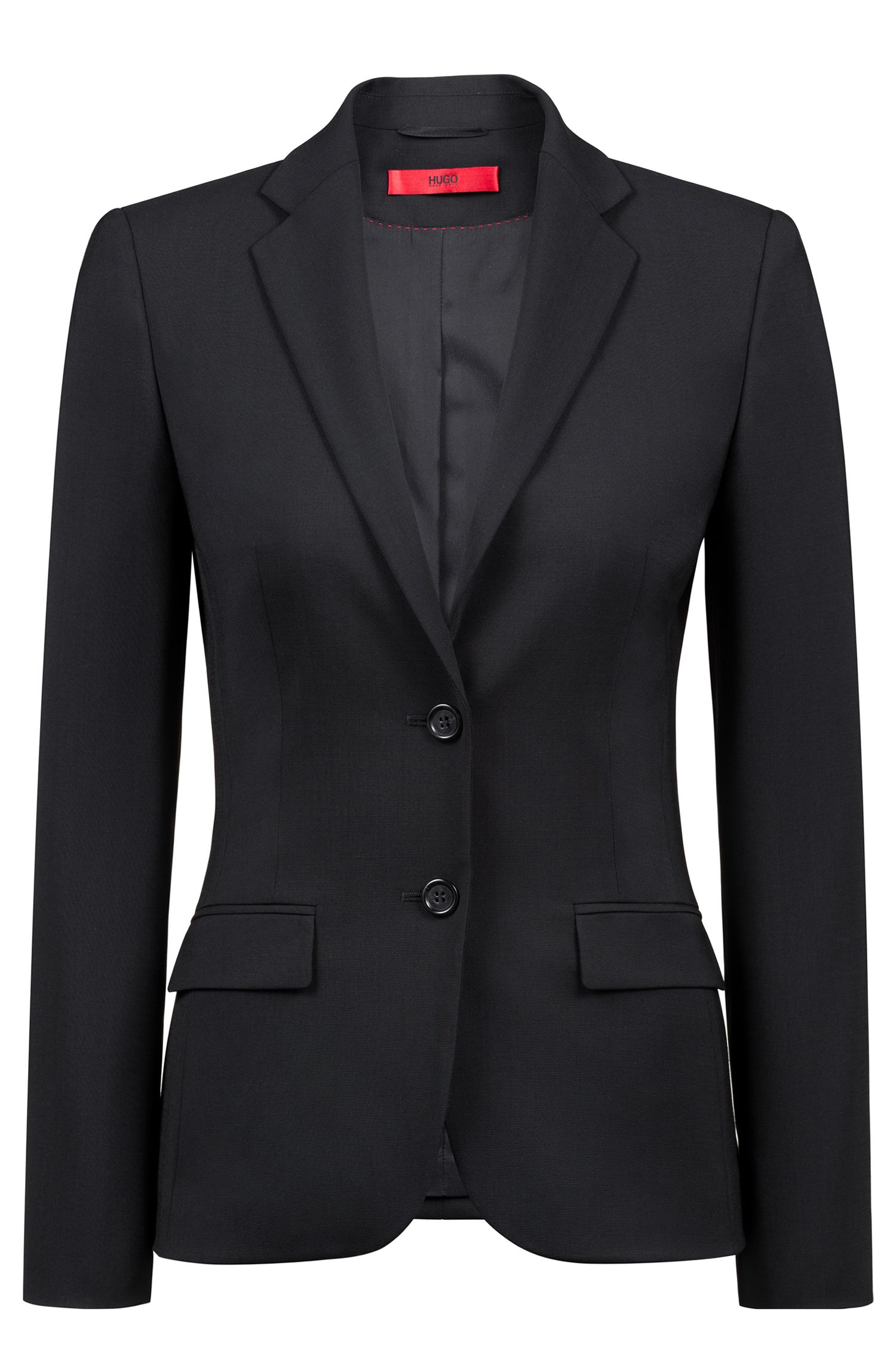 Regular-fit blazer in virgin wool by HUGO Woman