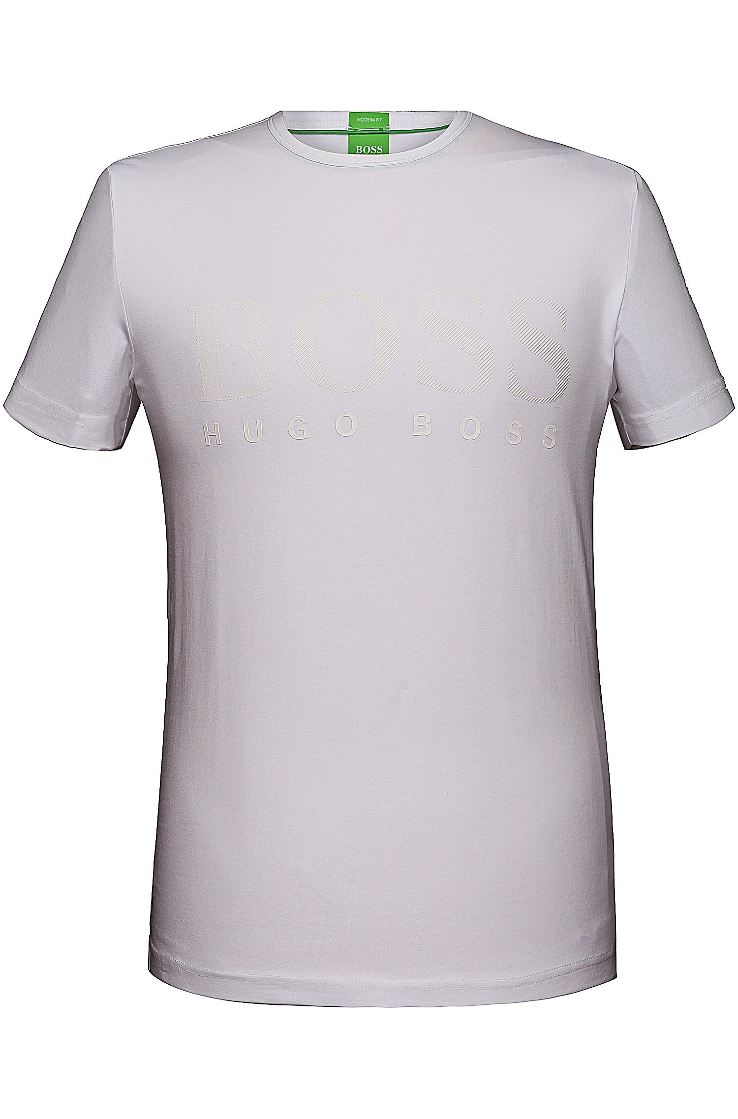 T-shirt 'Tee US' in cotton blend with elastane