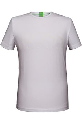 T-shirt 'Tee US' in cotton blend with elastane, White