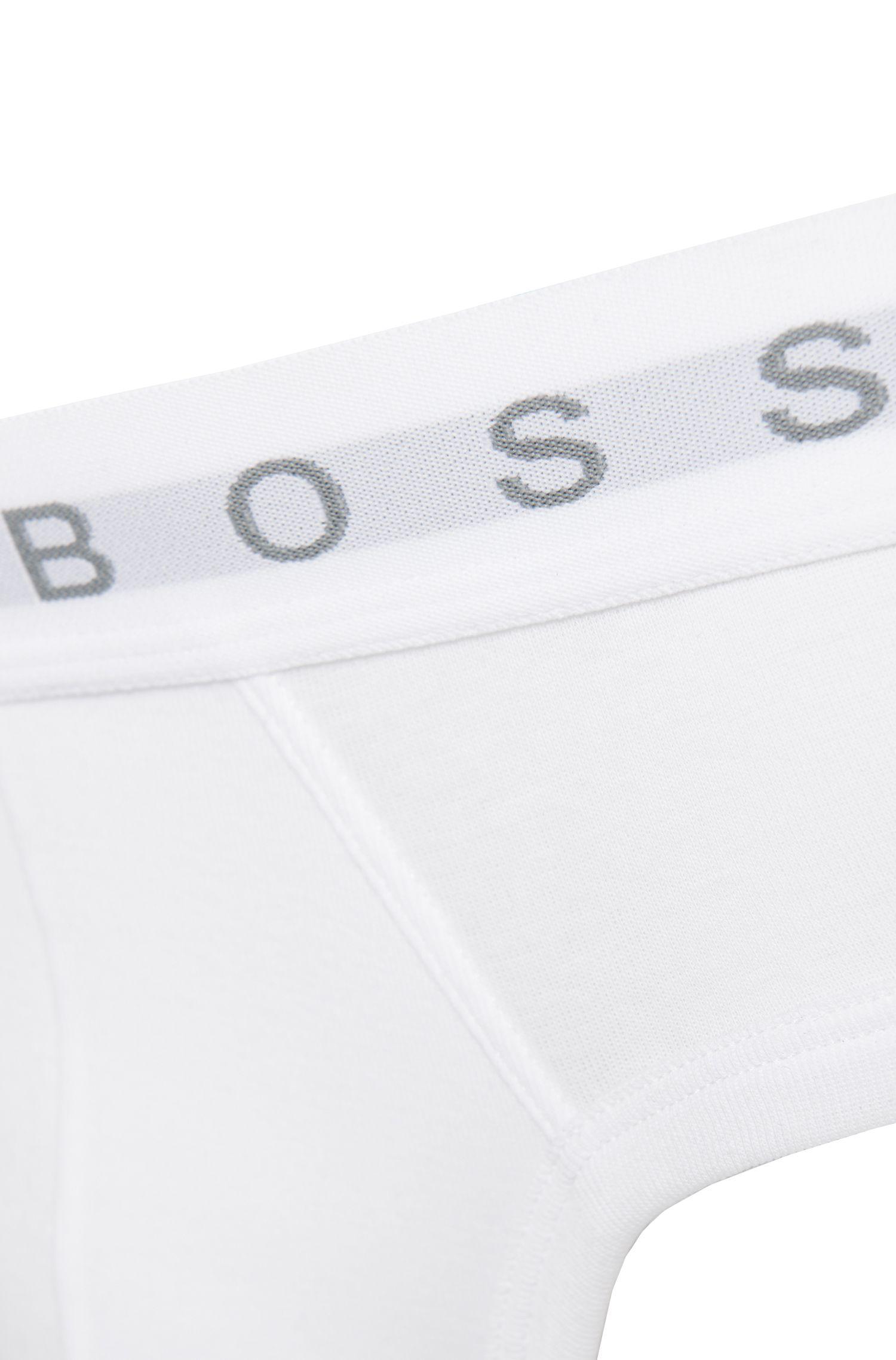 Slip aus reiner Baumwolle mit Logo