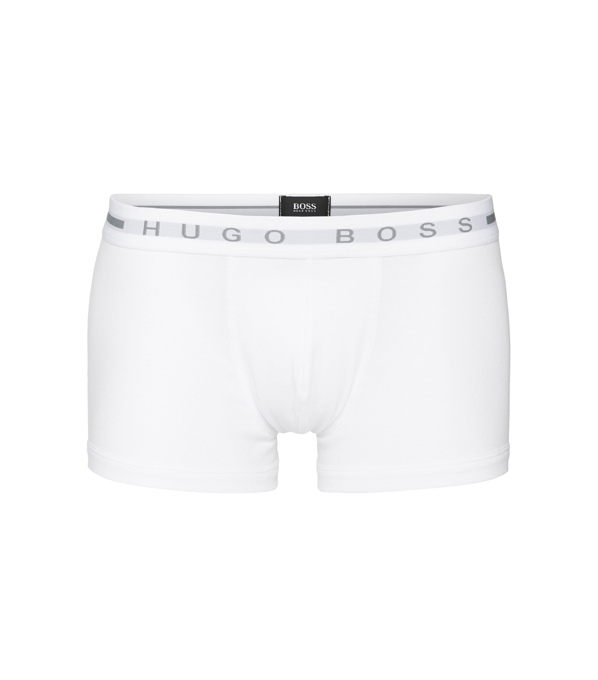 Pouch-front boxer shorts in cotton rib , White
