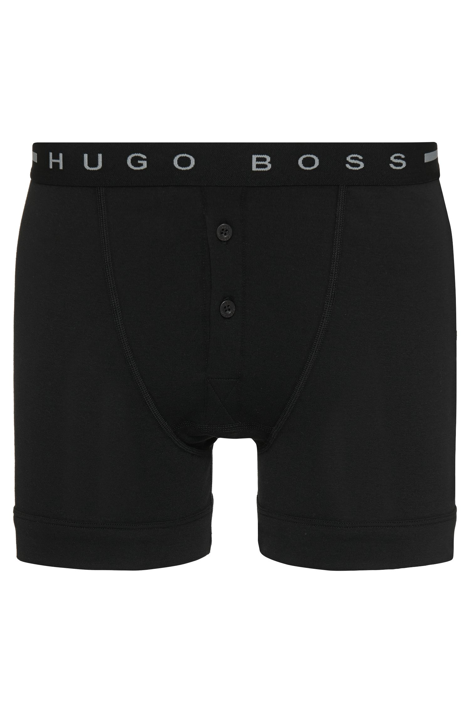 Button-front boxer shorts in cotton rib