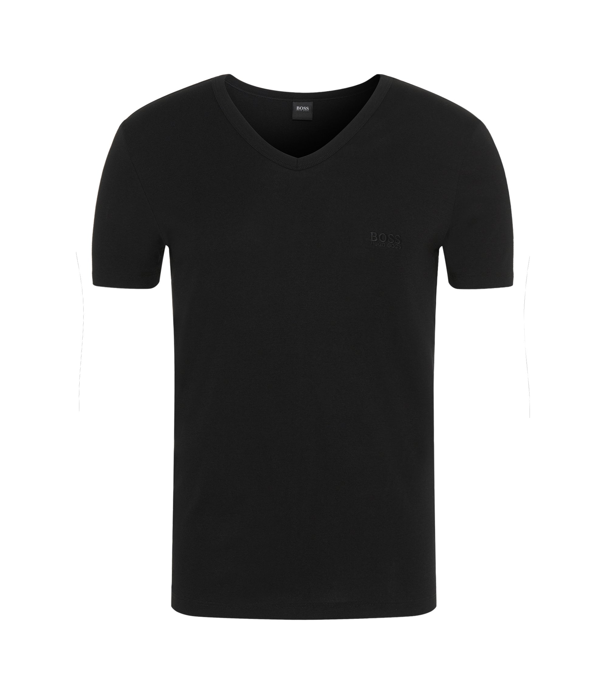 T-shirt Regular Fit en coton, Noir