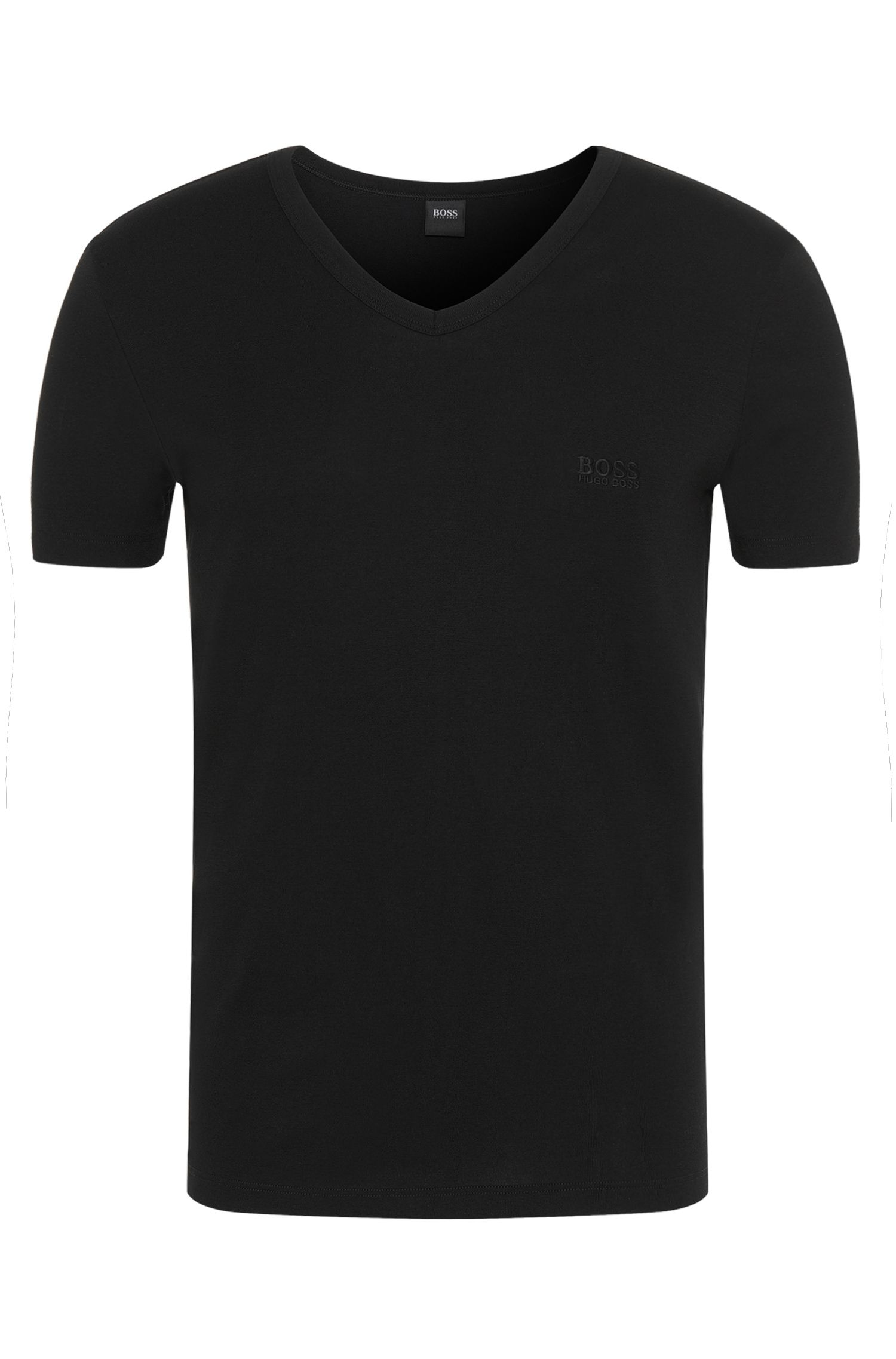 Regular-fit T-shirt in cotton , Black