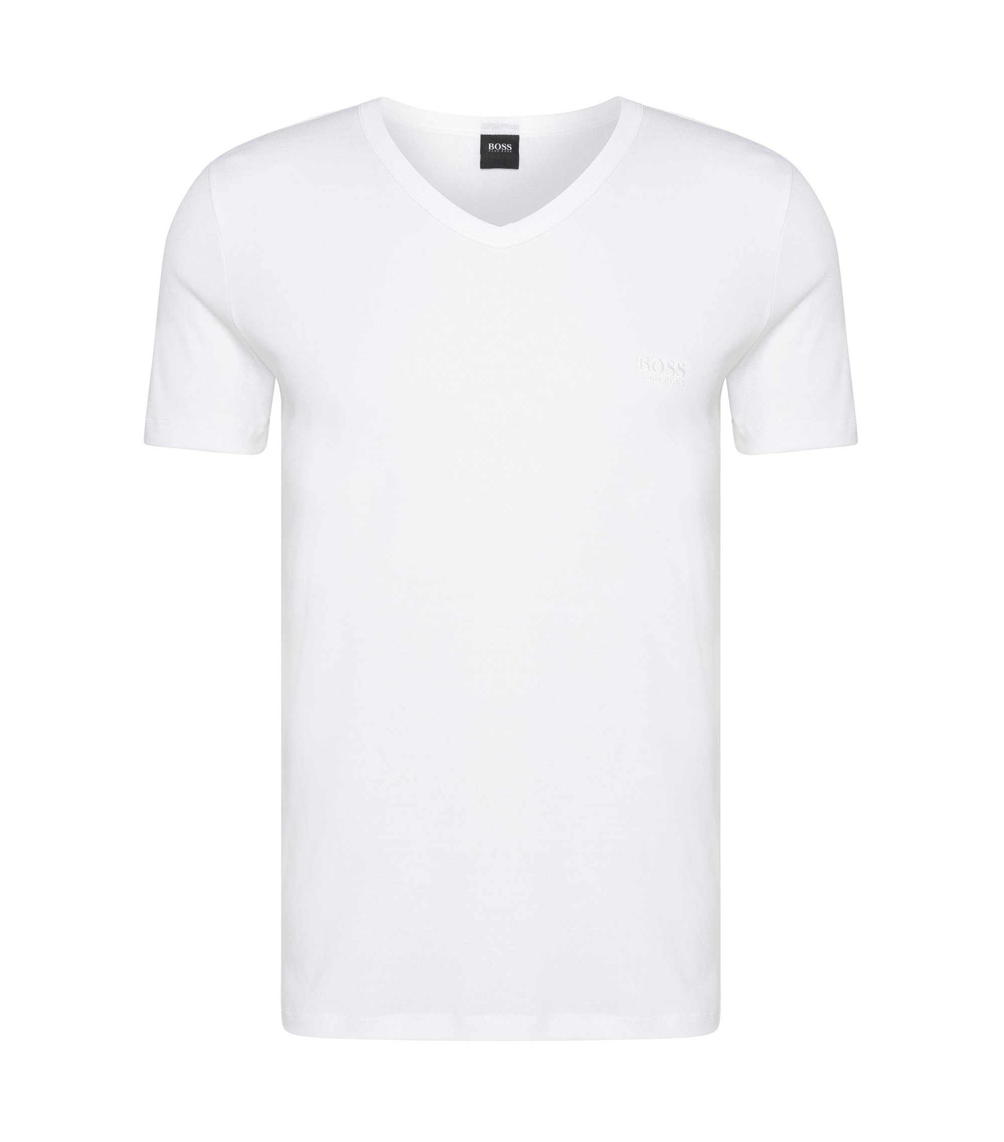 Regular-fit T-shirt van katoen , Wit