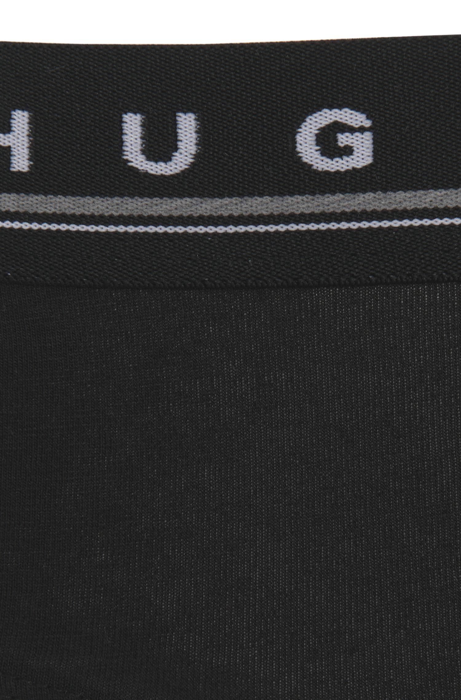 Slip aus elastischer Baumwolle mit Logo-Detail