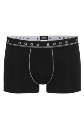 Boxers Regular Rise en coton stretch, Noir