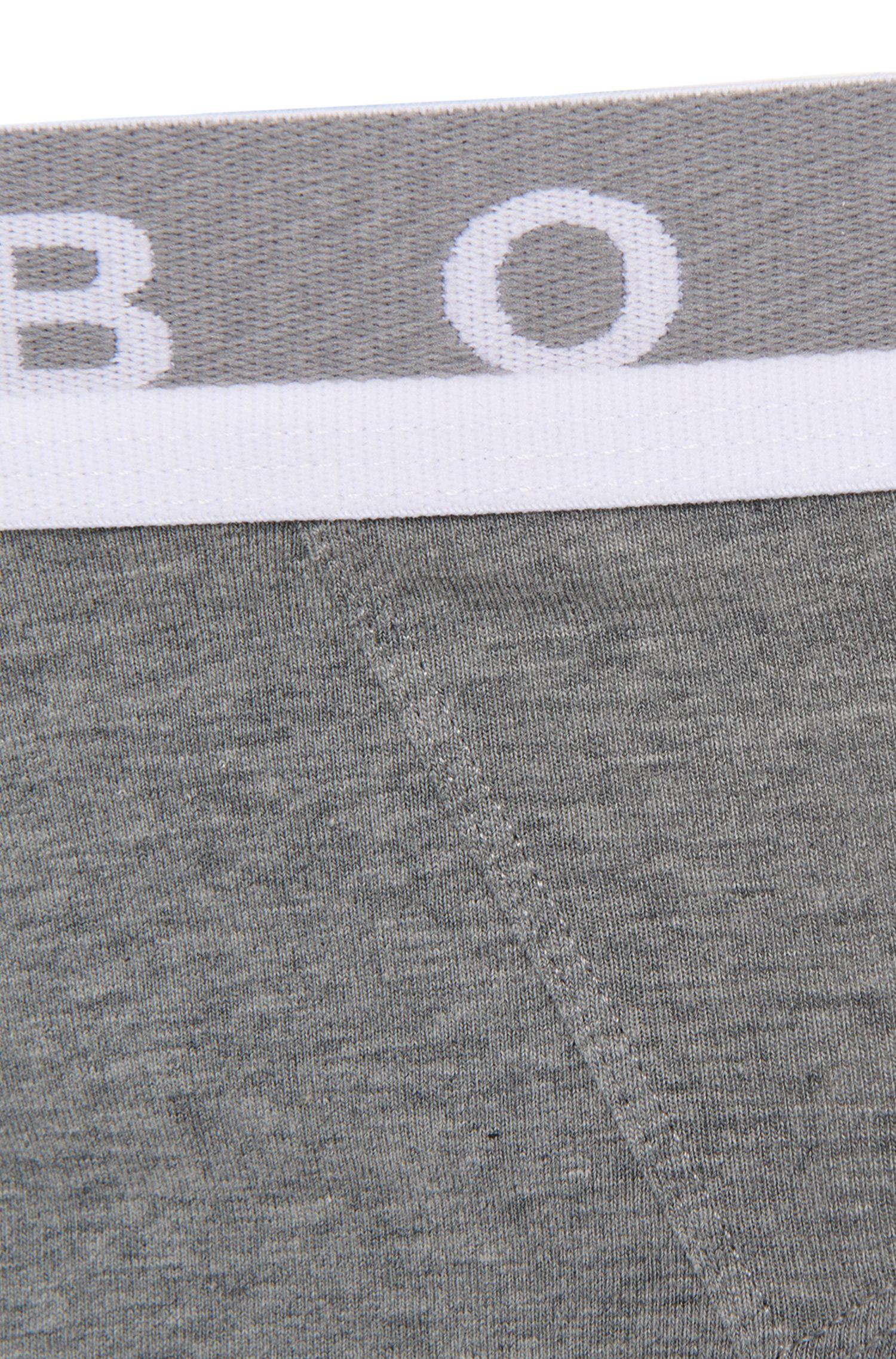Calzoncillos cortos en algodón elástico con detalle de logo , Gris